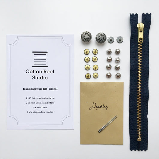 Jeans Hardware Kit - Nickel