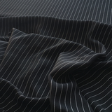 Viscose Black Pinstripe
