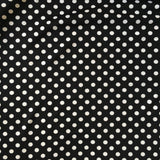 Ponte Roma Jersey Black and White Spot [BOLT END 50cm] Fabric - Cotton Reel Studio
