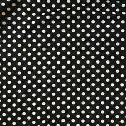 Ponte Roma Jersey Black and White Spot Fabric - Cotton Reel Studio