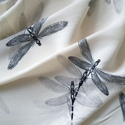 Viscose Crepe Dragonfly Fabric - Cotton Reel Studio