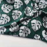 Organic Cotton Jersey Monstera Evergreen