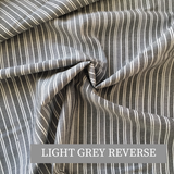 Chambray Black and Grey Stripe