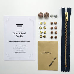 Jeans Hardware Kit - Antique Copper
