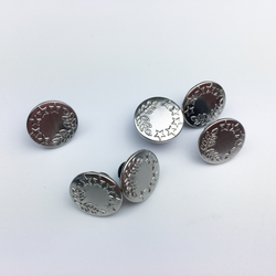 Jeans Buttons Silver 16mm Haberdashery - Cotton Reel Studio
