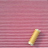 Jersey Red White Breton Stripe Fabric - Cotton Reel Studio
