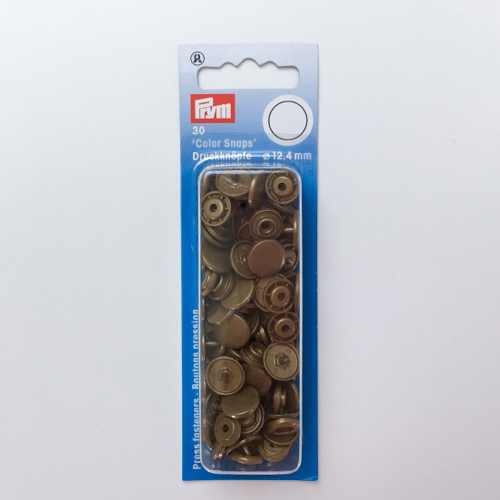 Prym Colour Snaps Fasteners 12.4mm Gold
