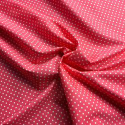 Cotton Poplin Salmon Spot Fabric - Cotton Reel Studio