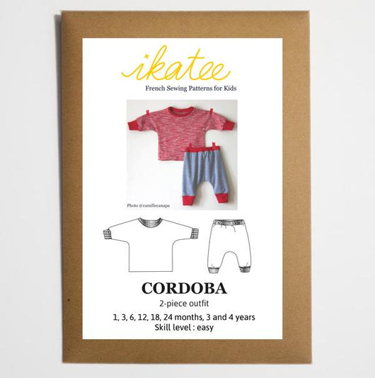 Ikatee Patterns - Cordoba Jogging or Pyjama Set - Baby 1m to 4yr Sewing Patterns - Cotton Reel Studio