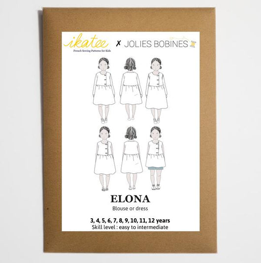 Ikatee Patterns - Elona Blouse and Dress - Girl 3-12yrs Sewing Patterns - Cotton Reel Studio
