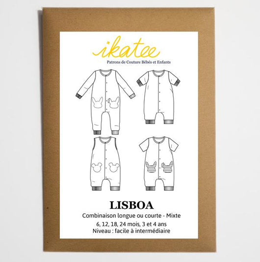 Ikatee Patterns - Lisboa Jumpsuit / Playsuit - Baby 6m to 4yr Sewing Patterns - Cotton Reel Studio