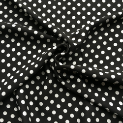Viscose Black & White Polka Dot Fabric - Cotton Reel Studio