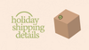 2020 Holiday Shipping Schedule