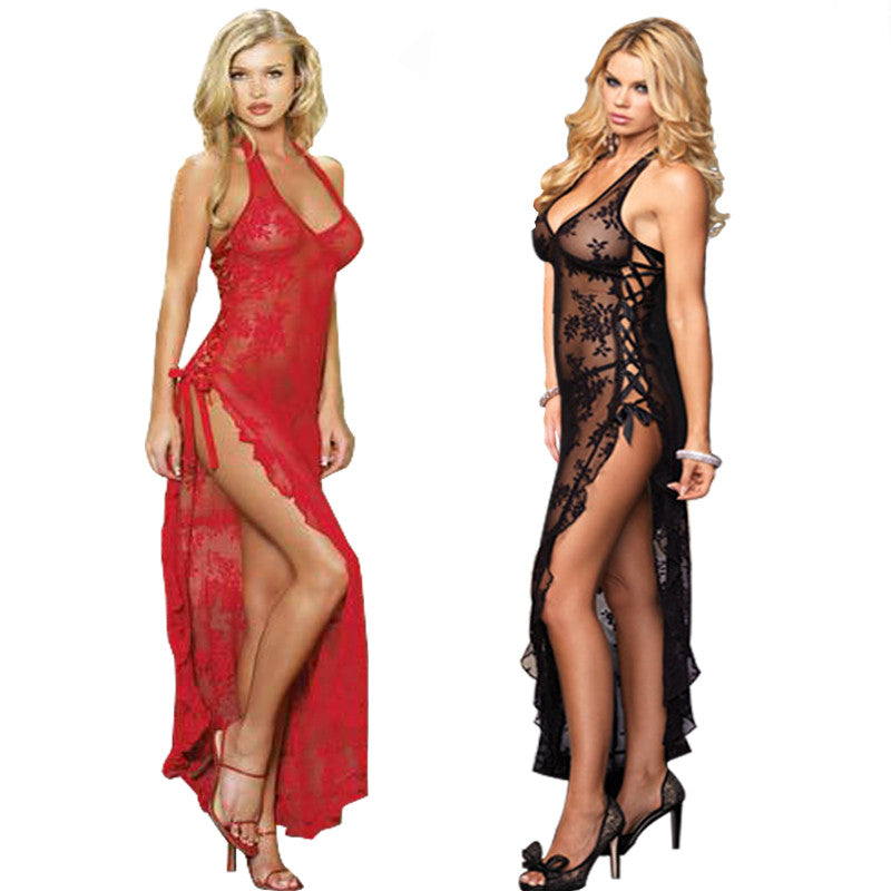 Lace UP Lingerie Gown Sleepwear