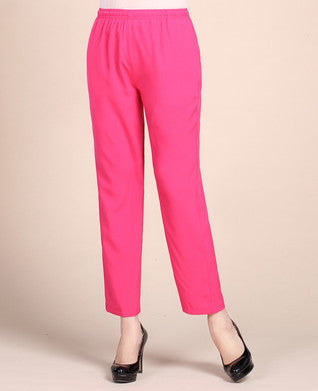 Faux Silk Trousers