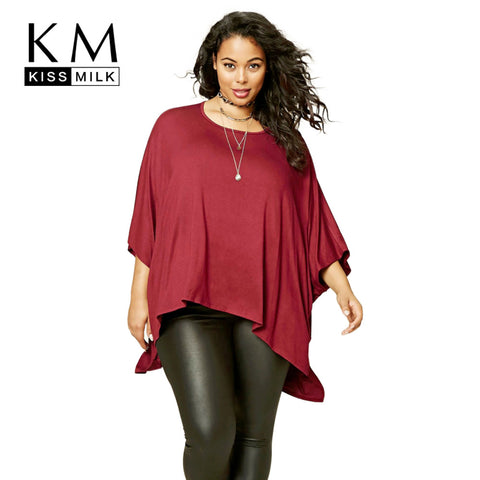 Casual Solid Cape Tops Round-Neck Loose Streetwear Big T-shirt