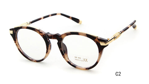 Cat eye Round Metal Frame High Quality Glasses