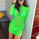 Scuba Mesh Cover Up Dress