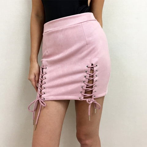 Lux Hun Suede Skirt