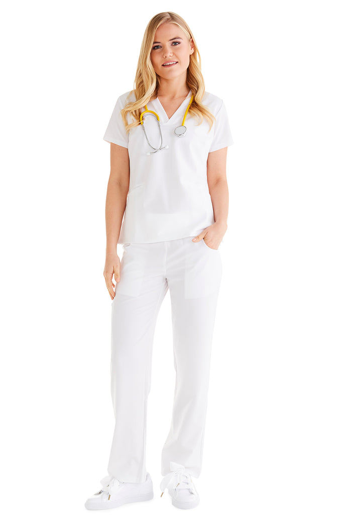 "Women's ""Cross My Hip"" Pant - White"