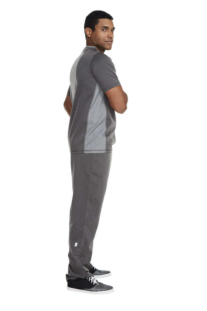 "Men's ""Sport"" V-Neck Top - Heather Graphite"