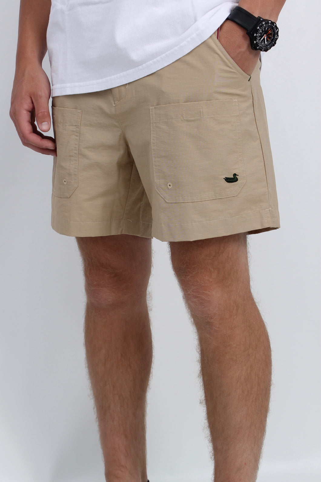 Khaki Shorts- Southern Marsh Tarpon Fishing Shorts Front