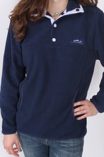 Slate Navy Pullover- Lauren James Blakely Pullover Detail