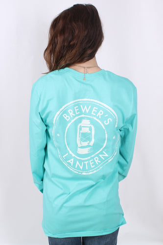 Highlands Green L/S- Brewer's Lantern Long Sleeve Logo Tee- Back