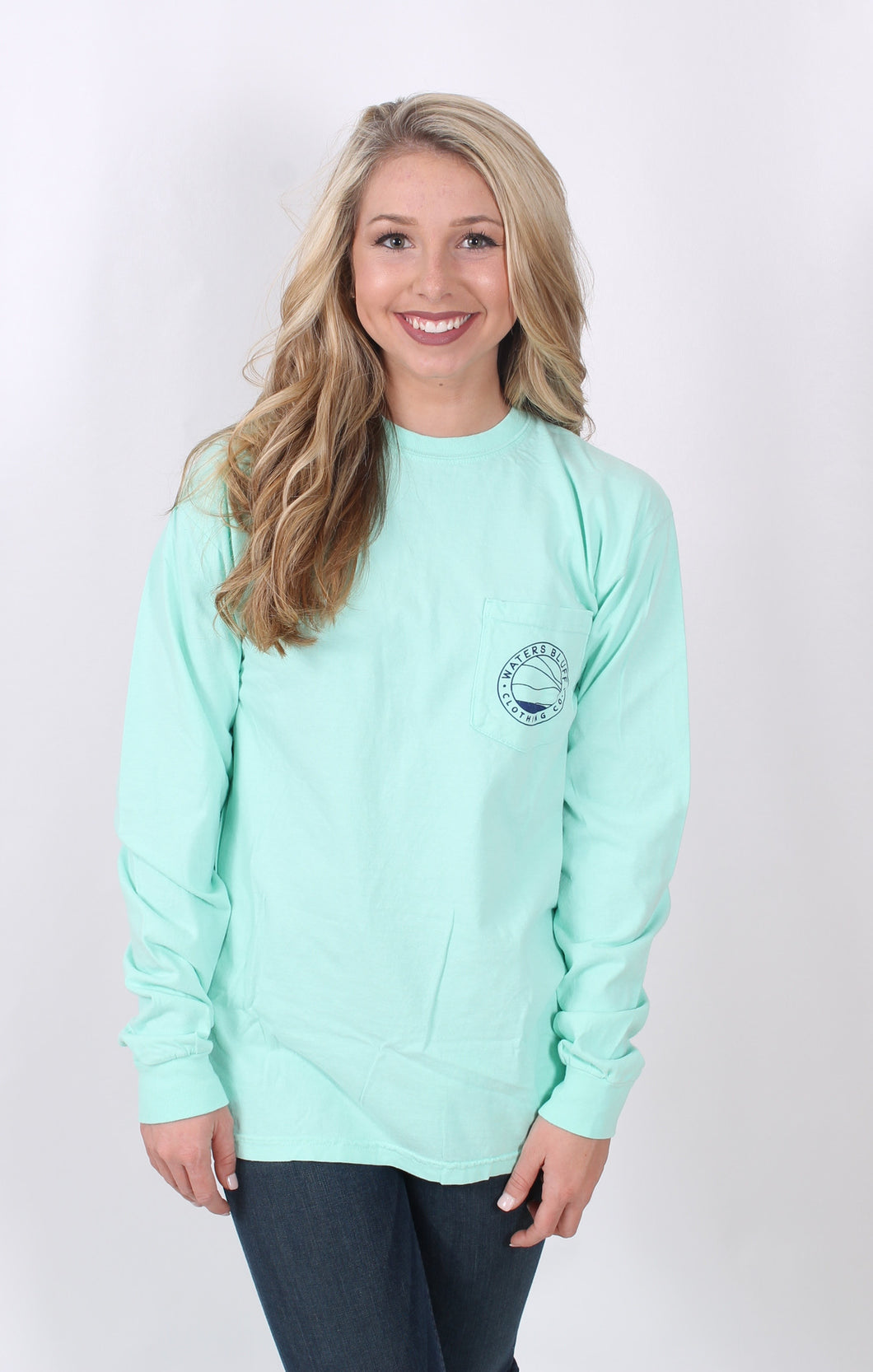 Island Reef L/S- Waters Bluff Long Sleeve Tee Front