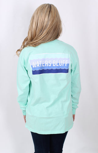 Island Reef L/S- Waters Bluff Long Sleeve Tee Back