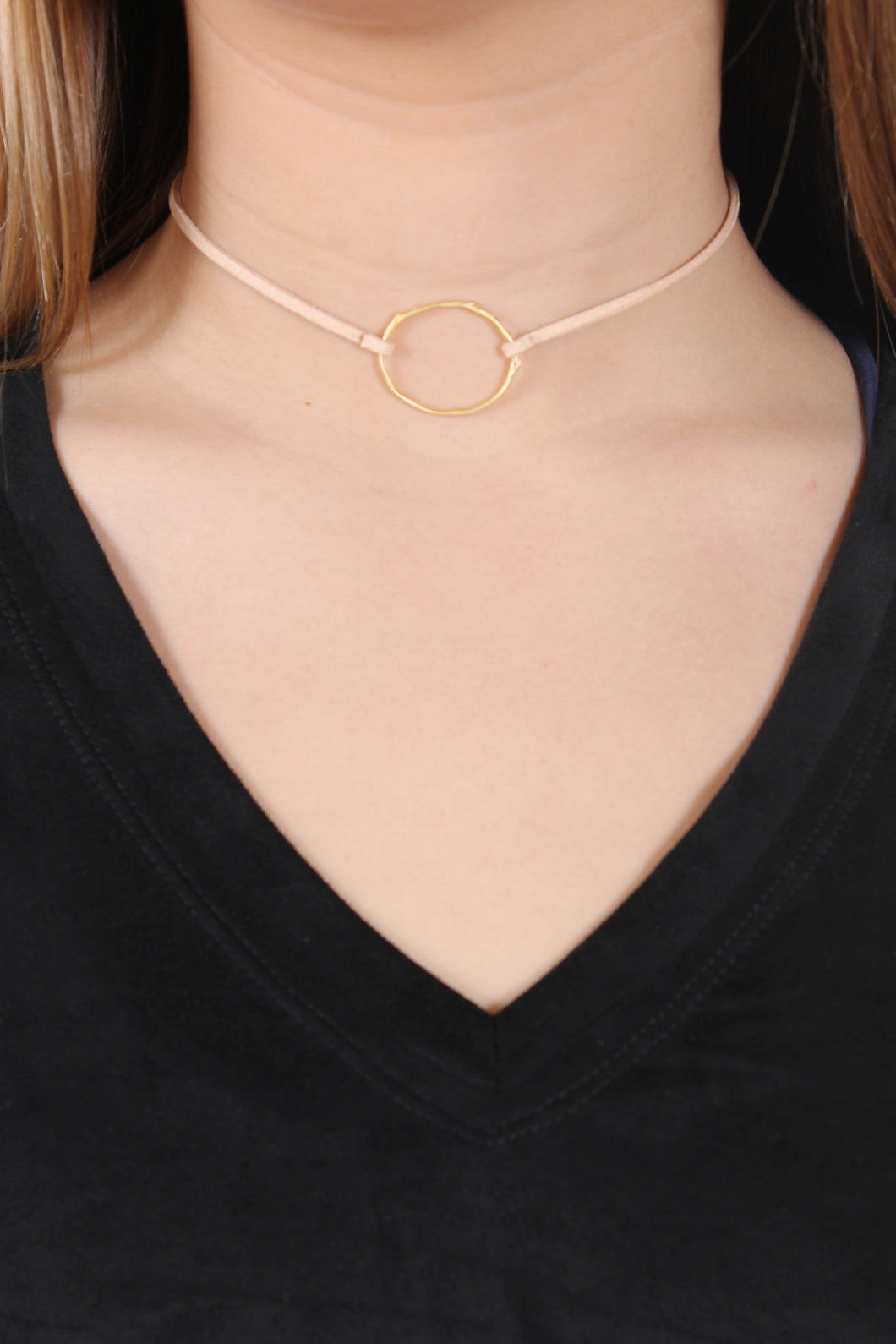 Nude necklace - Thorn Ring Choker