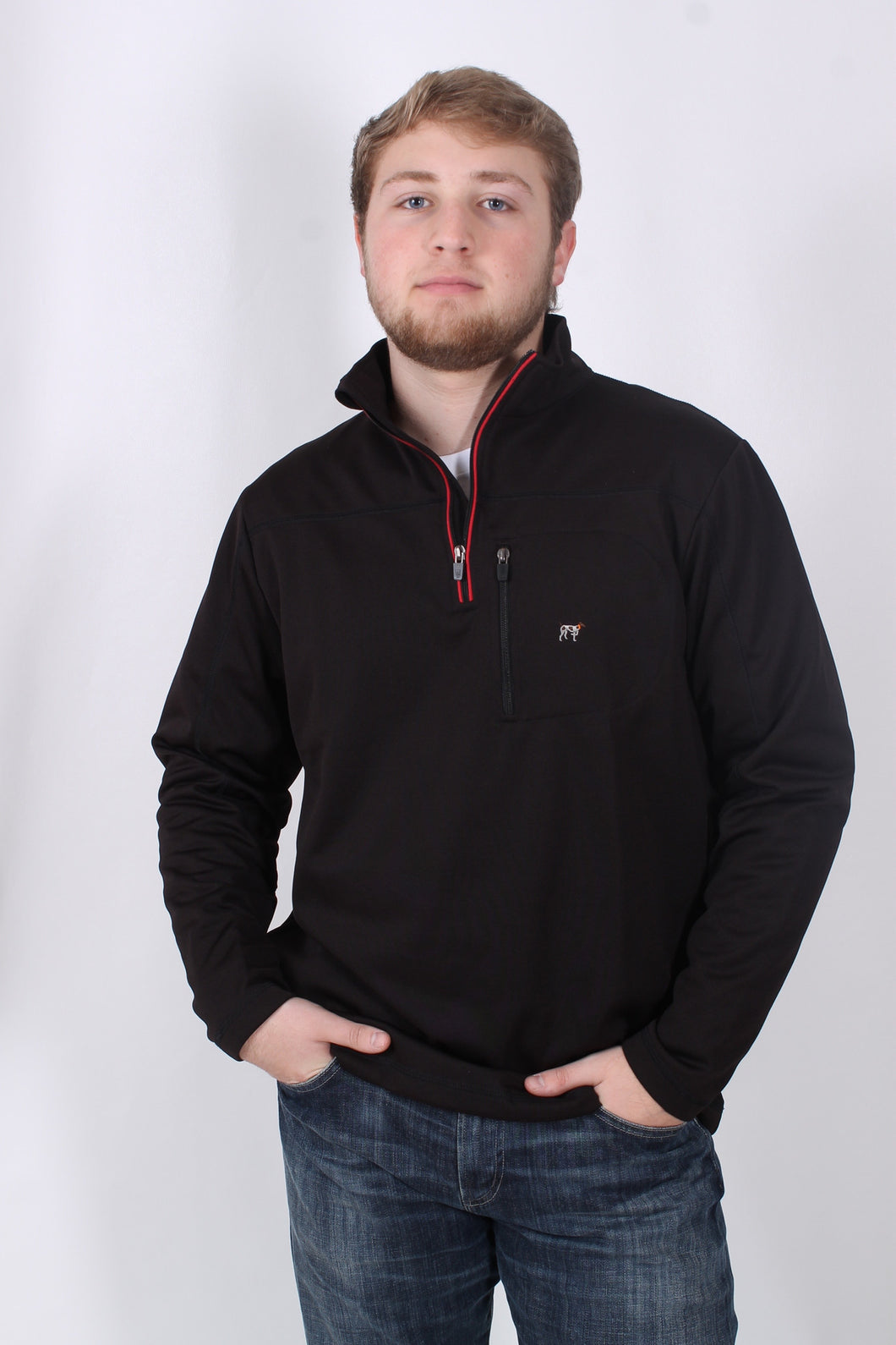 Black Pullover- Southern Point Tradition Tech Pullover Front