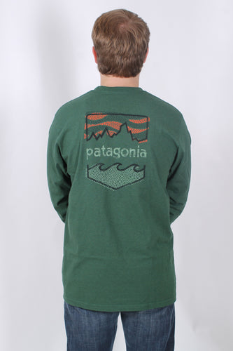 Riparian Forest L/S- Patagonia Badge Long Sleeve T-Shirt Back