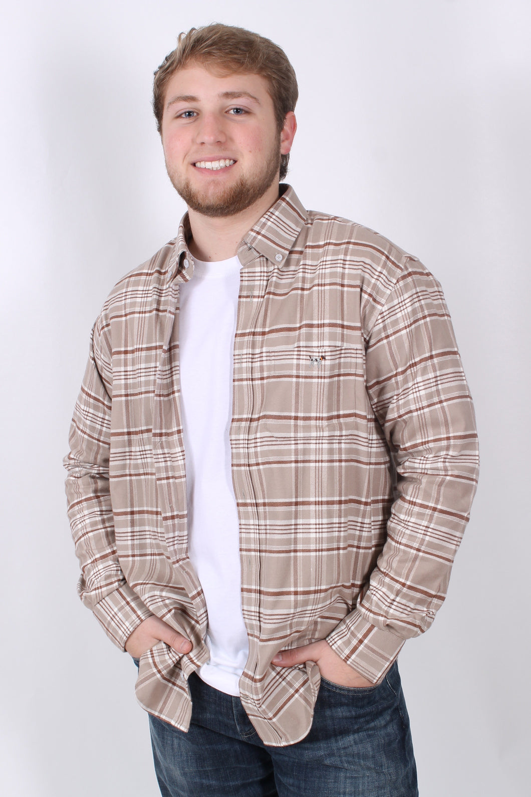 Khaki Flannel- Southern Point Flannel Front