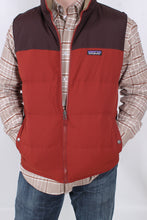 Cinder Red Reversible Vest- Patagonia Bivy Down Vest Detail