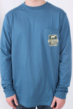 Blue L/S- Southern Point Camo Shield Long Sleeve T-Shirt Detail
