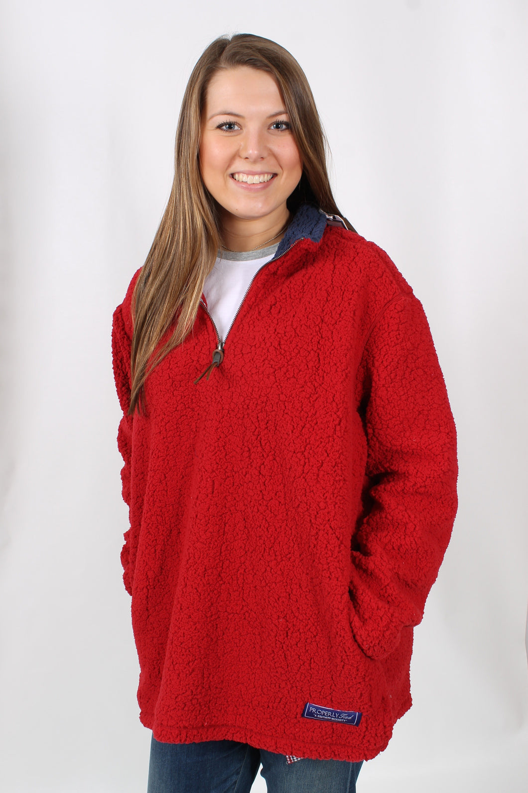 Red Pullover- Properly Tied Kensington Pullover Front