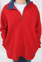 Red Pullover- Properly Tied Kensington Pullover Detail