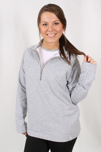 Light Grey Pullover- Lauren James Sorority Pullover Front