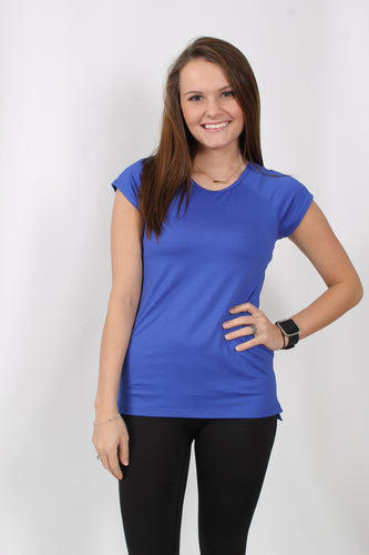 Royal Blue S/S- Prism Balance Tee Front