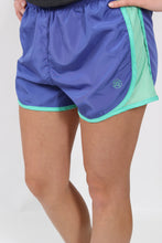 Periwinkle Shorts- Lauren James Preptec Athletic Shorts Front