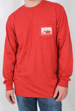 Cabin Red L/S- Brewer's Lantern Dog Long Sleeve Detail