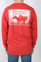 Cabin Red L/S- Brewer's Lantern Dog Long Sleeve Back