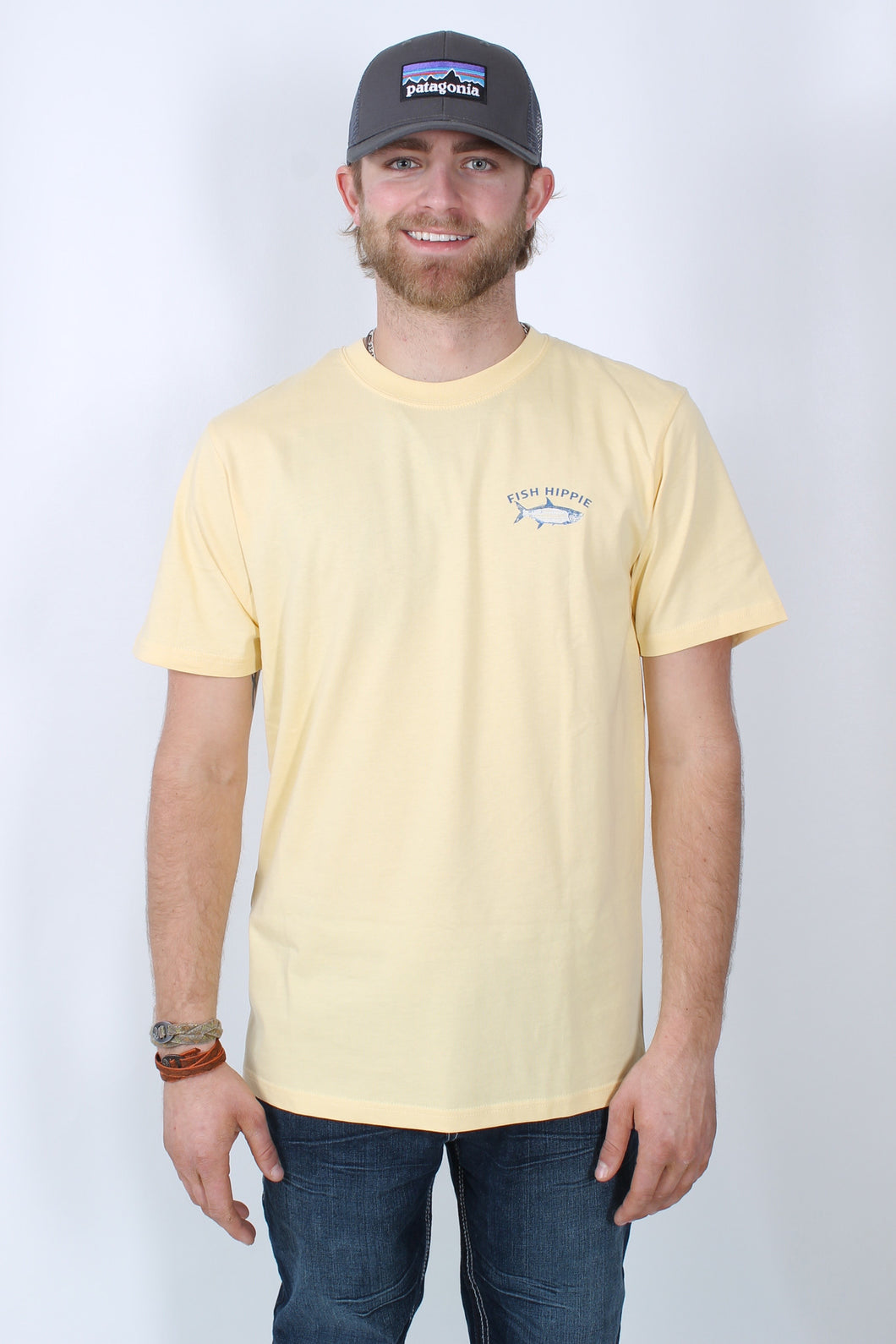 Yellow S/S- Fish Hippie Most Wanted Short Sleeve T-Shirt Front