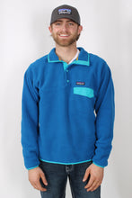Bandana Blue w/ Epic Blue Pullover- Patagonia Lightweight Synch Snap-T Pullover Front