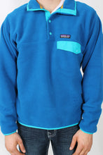 Bandana Blue w/ Epic Blue Pullover- Patagonia Lightweight Synch Snap-T Pullover Detail