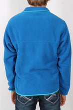 Bandana Blue w/ Epic Blue Pullover- Patagonia Lightweight Synch Snap-T Pullover Back