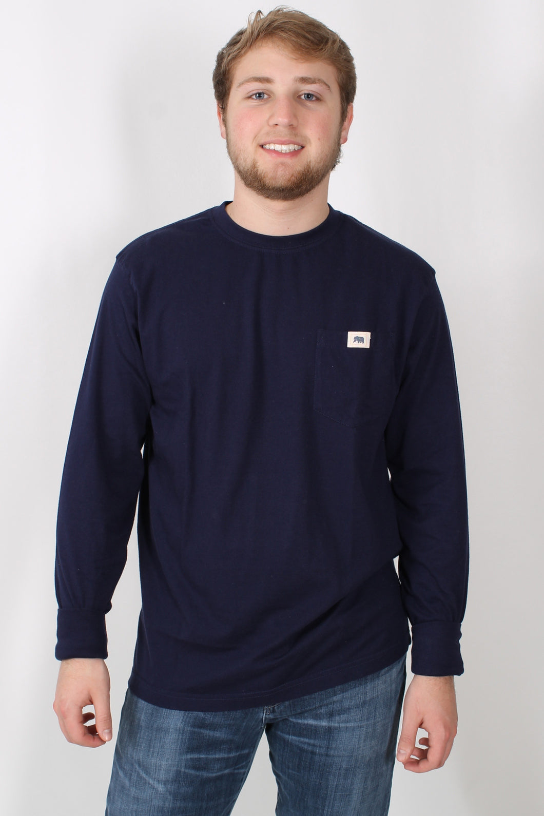 Navy L/S- Normal Brand Long Sleeve Front
