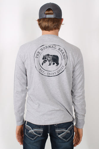 Grey L/S- Normal Brand Long Sleeve Back