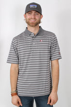 Grey Stripes Polo- Southern Collegiate Back 9 Polo Front